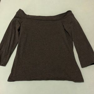 Loft off the shoulder gray top / Size Small